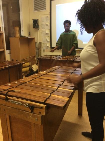 The Blackroots Marimba Ensemble's rehearsal