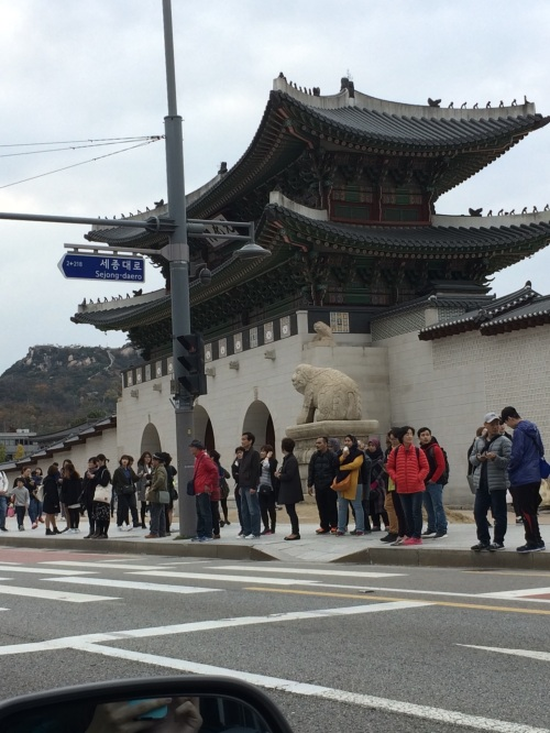 Driving by Gyeonbukgung Palace