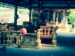 Balot took me to the gamelan factory in Gianyar