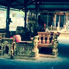 Balot took me to the gamelan factory in Gianyar