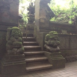 The monkey forest temple