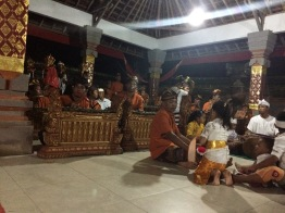 Sacred gamelan performance after prayer