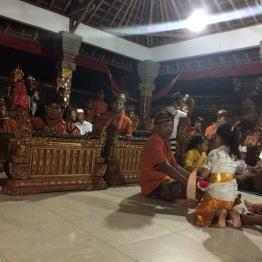 Sacred gamelan performance after prayer