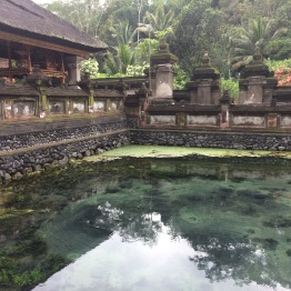 A natural spring in the temple
