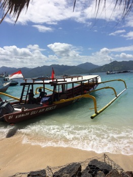 The traditional Balinese fishing boats