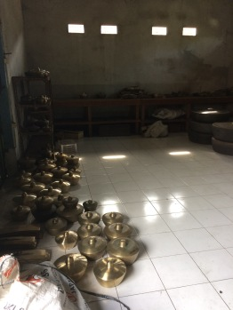 The storage room for all the gongs