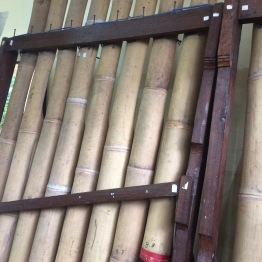 A giant bamboo xylophone thats 8 feet long!