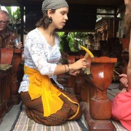 My friend, Sarah, teaching gamelan