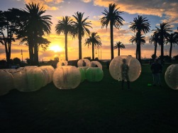 Bubble soccer with some Aussies