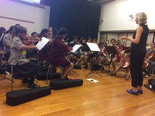 El Sistema orchestra rehearsal